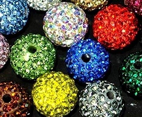 Color: 10mm White Calvas 10mm 8mm 6mm 12mm 14mm 100 pcs//lot Mixed White o5754 Round Disco Handmade Beads Bracelet Ball Crystal shamballa