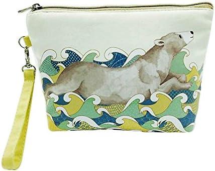 doitsa cartera en lienzo portátil Monedero para niña mujer pequeño bolsa de almacenamiento bolsa Cosmética bolsa