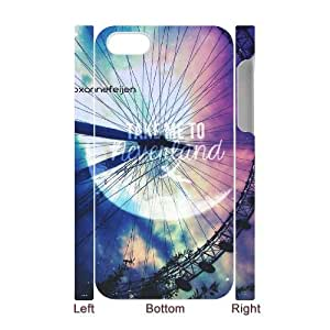Qxhu take me to Neverland patterns Protective Snap On Hard Plastic Case for Iphone4,4S 3D case