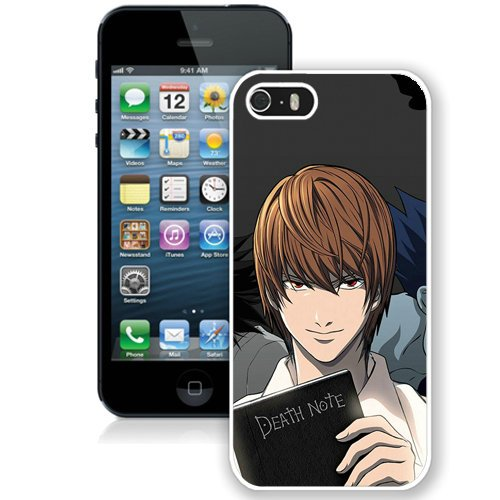 Coque,Fashion Coque iphone 5S Light Yagami Death Note blanc Screen Cover Case Cover Fashion and Hot Sale Design