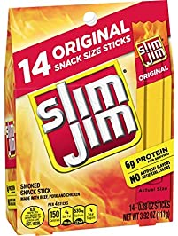 Slim Jim Snack-Sized Smoked Meat Stick, Original Flavor, Keto Friendly, .28 Oz. 14-Count ( Packaging may vary )