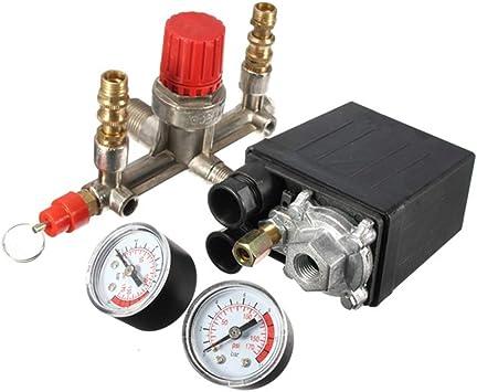 KKmoon 125 PSI 12 Bar Peque/ño Compresor de Aire Regulador de Presi/ón Regulador Ajustable Instrumento de V/álvula