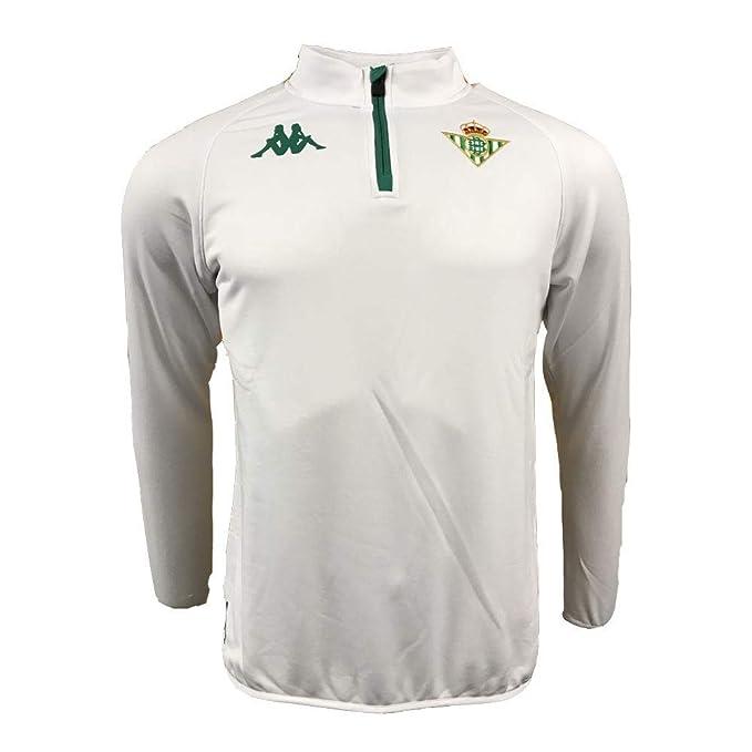 Sudadera de entrenamiento - Real Betis Balompié 2018/2019 - Kappa Ablas 2 Sweat - Blanca - Talla 10 años: Amazon.es: Deportes y aire libre