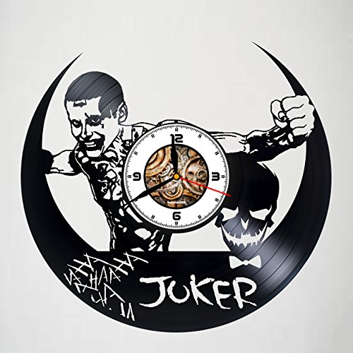 JOKER - ACTION FIGURE - Movie - Handmade Vinyl Record Clock - Best Gift - Kovides Vinyl Wall Clock - Home Décor - Silent Mechanism- Handmade Unique Original Gift - Art Design - Customize your clock !