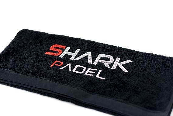 Shark Padel Toalla Negra (Negro, 70x140cm)