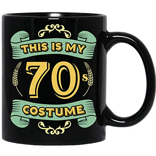 (This Is My 70s Costume - Funny Halloween 70 Birthday Gag Gifts Idea Black)
