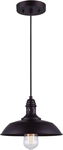 CANARM IPL351B01ORB Wellington 1 Light Cord Pendant, Oil Rubbed Bronze