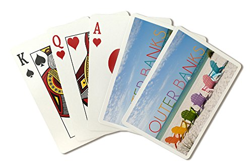 National Bank Stock - Outer Banks, North Carolina - Colorful Chairs (Playing Card Deck - 52 Card Poker Size with Jokers)