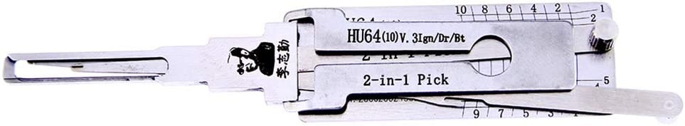 Locksmith Tools Door Lock Opener Lock Pick Set Works for Benz 10 Maybach Loboo Idea LiShi HU64 2-in-1 Pick//Decoder Tool Lauren Chrysler Carlson