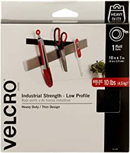 VELCRO Brand Industrial Strength . Low Profile 10ft x 1in Roll. Black