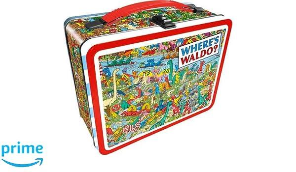 Amazon.com: Aquarius Finding Waldo Dinosaur Tin Storage Box Multicolor:  Home U0026 Kitchen