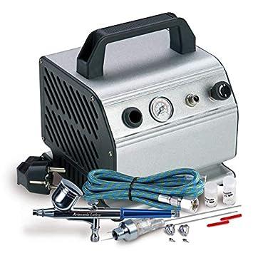 Outletdelocio Compresor de aerografia con calderin 0,3 L. Presion Regulable 0-3 Bar. Aerografo Profesional con Accesorios Incluido: Amazon.es: Juguetes y ...