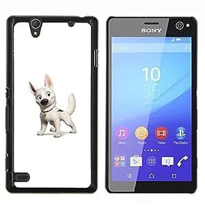 Perno Perro- Metal de aluminio y de plástico duro Caja del teléfono - Negro - Sony Xperia C4 E5303 E5306 E5353
