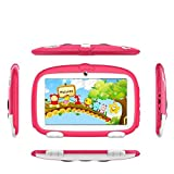 7Inches Tablet PC HD Touchscreen Mic WIFI Android 6.0 Octa Core Quad Core Tablet PC 8GB Dual Camera Wifi,Support Games, Skype,MSN,Facebook, Twitter, etc,Gift For Kids (Pink)