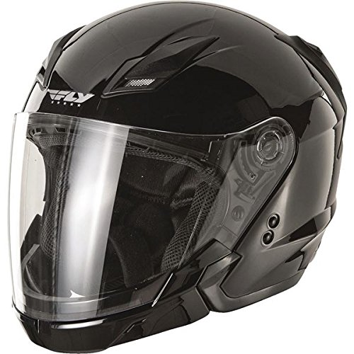 Fly Racing Tourist Adult On-Road Racing Motorcycle Helmet - Gloss Black / Small