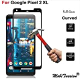 MobiTussion 5D Curved Edge-to-Edge 9H Tempered Glass Screen Protector for Google Pixel 2XL / Pixel 2 XL