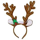 TOYMYTOY Reindeer Antler Headband Hair Hoop Headpiece Reindeer Plush Toy for Christmas Costume Party