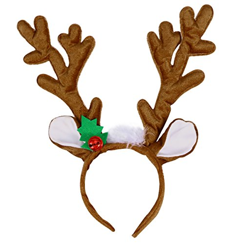 TOYMYTOY Christmas Headband Reindeer Antler Hair Hoop Headpiece for Christmas Party]()