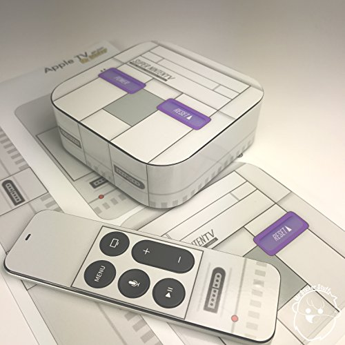 [해외]슈퍼 닌텐도 SNES Apple TV 스킨 데칼/Super Nintendo SNES Apple TV skin   Decal