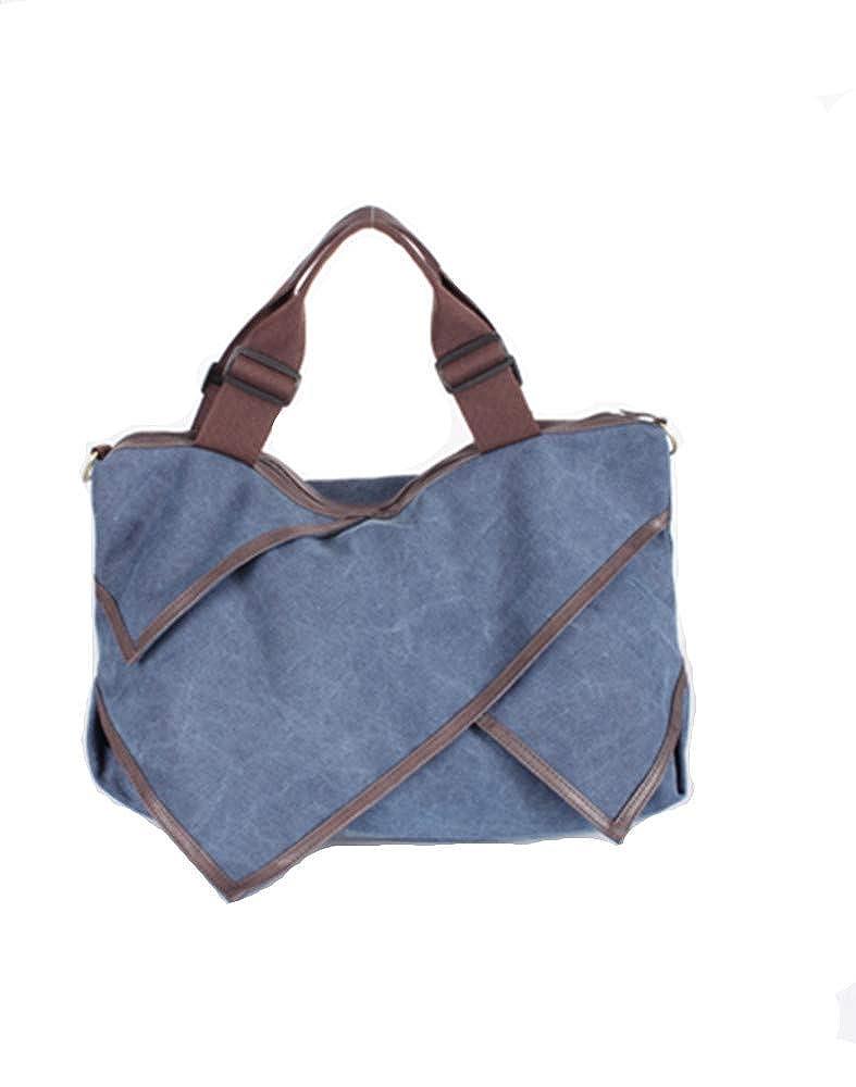 1ca528ba94fd Amazon.com: MOLLYGAN Women's Leisure Canvas Shopping Hobo Bag Totes ...