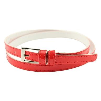 Covermason Nouvelle belle femmes fille boucle ceinture en cuir de couleur  Candy mince maigre d  6a9c0ed1cf6