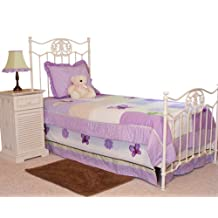 Pam Grace Creations Twin Bedding Set, Lavender Butterfly