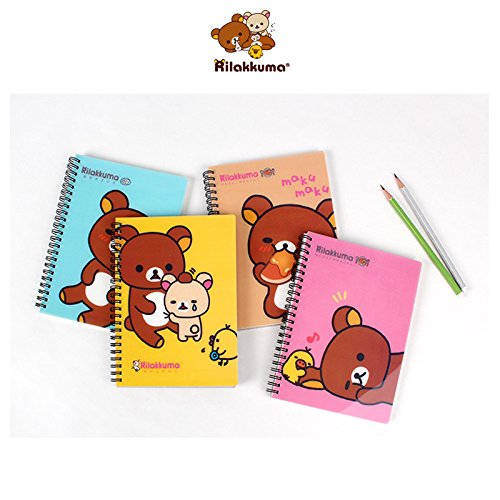 San-x Rilakkuma PP Cover Lined Spiral Notebook Note Pad 1pc (Yellow)
