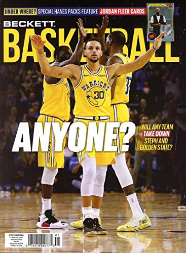 Beckett Basketball Monthly Price Guide Card Magazine May 2019 Golden State Warriors