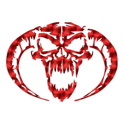 Demon Devil Skull Horns - Vinyl Decal Sticker - 8