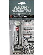 Bindulin Vloeibaar aluminium 60 g - gebruiksklare reparatiemassa van kunsthars spatel met aluminium - geschikt voor auto auto watersport marine aluminium velgen jacht modelbouw - merkproduct