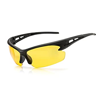 jiamins – Gafas de sol protectoras anti-UV, gafas de sol, gafas de seguridad, Safety Goggles, amarillo