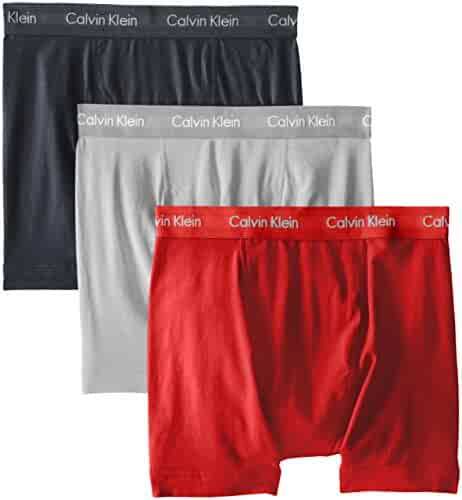 Calvin Klein Men's Cotton Stretch 3 Pack Boxer Briefs