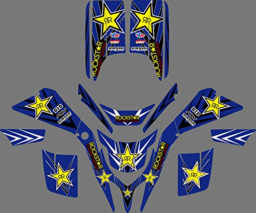 0043 Customized 3M Sticker Motorcross Graphic Motorcycle Decals Stickers Kit for Yamaha Blaster 200 YFS200 YFS 200 1988-2006 ATV Wrap Full Race Kits -