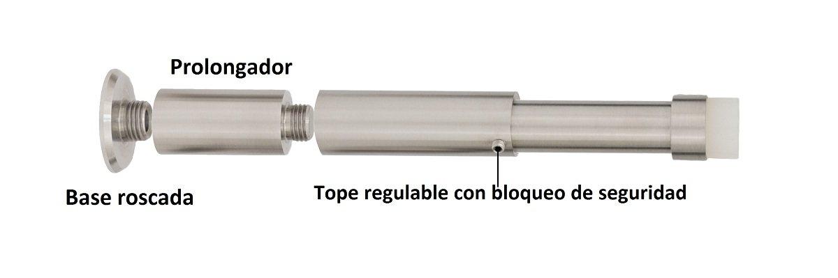 Evi Herrajes 040182KITBCBTPRAM Tope de puerta regulable para pared Silicona Blanca 132-165mm: Amazon.es: Bricolaje y herramientas