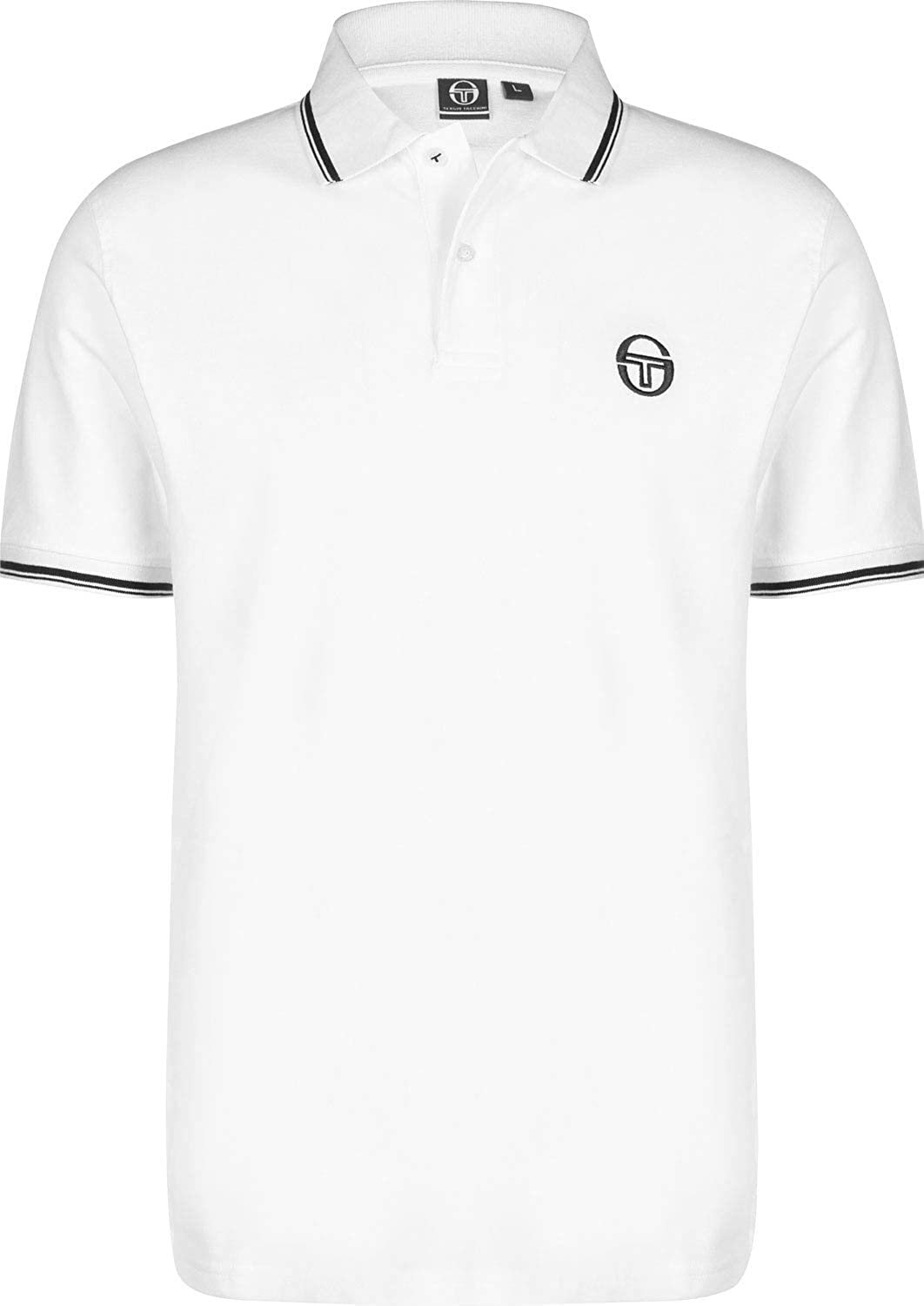 Sergio Tacchini Sergio 017 Polo White/Navy: Amazon.es: Ropa y ...