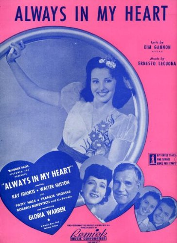 (Always In My Heart Vintage Sheet Music from