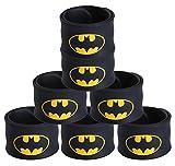 Justice League Superhero Slap Bracelet for Kids Boys & Girls Birthday Party Supplies Favors (7 Pack Batman)