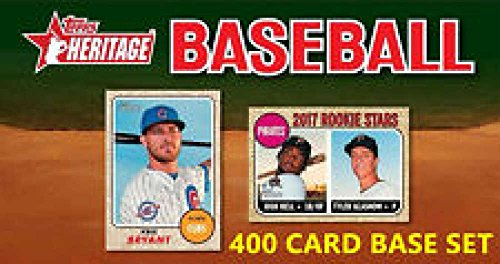 (2017 Topps Heritage Complete Set of #1 - 400 Cards)