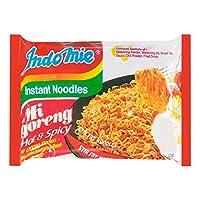 Indomie Mi Goreng Instant Stir Fry Noodles, Halal Certified, Original Flavor,Hot & spicy Flavor (Pack of 10) (hot & spicy, )