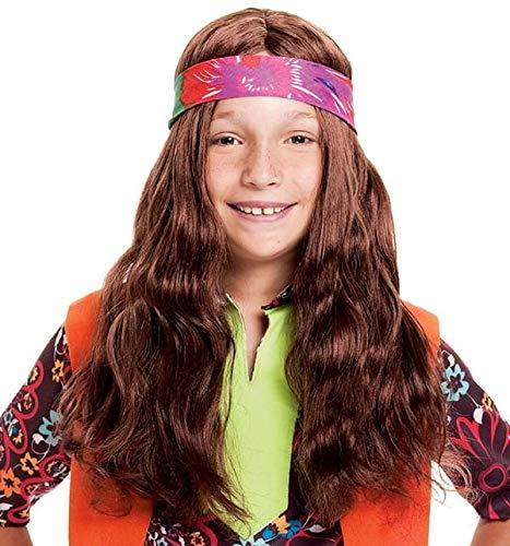 Long Hippie Child Wig with Bandana -