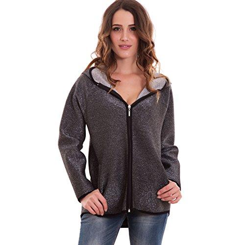 Toocool - Sudadera con capucha - para mujer gris