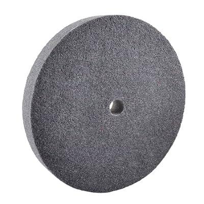"uxcell 8"" Outside Dia 12P 320# Grit Dark Gray Nylon Polishing Wheel Disc Pad"