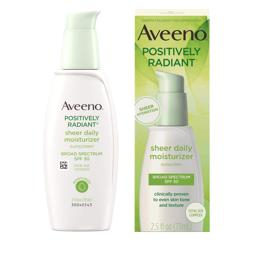 Best Aveeno Positively Radiant Sheer Daily Moisturizing Lotion for Dry Skin