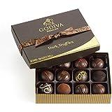 Godiva Chocolatier Dark Chocolate Truffles Gift Box, Great for Holiday Gifting, Dark Chocolate Treats, 12 Count