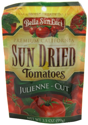Bella Sun Luci Dried Tomatoes Julienne-Cut, 3.5-Ounces (Pack of 6)