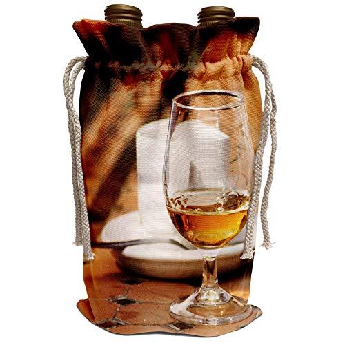 3dRose Danita Delimont - Cafes - Café glass, Chateauneuf-du-Pape Chateauneuf, France - EU09 PKA1799 - Per Karlsson - Wine Bag (wbg_81624_1)