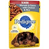 Pedigree Choice Cuts Senior Morsels In Sauce With Chicken And Rice Wet Dog Food, (16) 3.5 Oz. Pouches