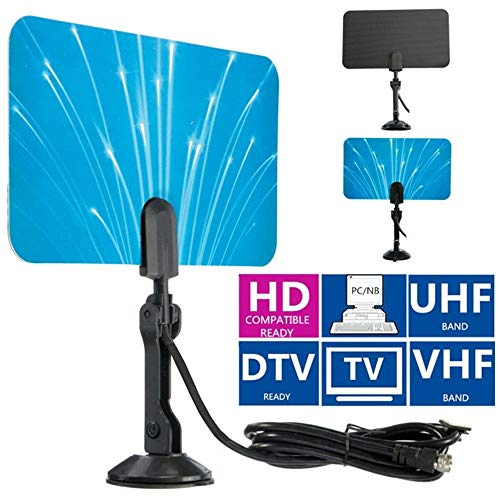 Lljin Digital Indoor TV Antenna HDTV DTV Box Ready HD VHF UHF Flat Design