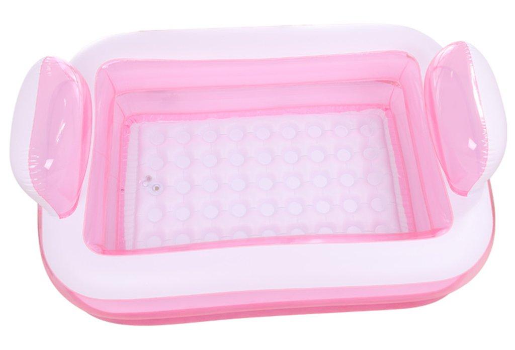 Sunhai& Tubble Inflatable Bathtub Adult Size Portable Home Spa, Baby Early Education Swimming Pool ,Comfortable Bath, Quality Tub ( Color : Pink )