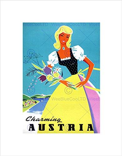 The Art Stop Travel Tourism Austria Traditional Costume Flowers Print B12X7912